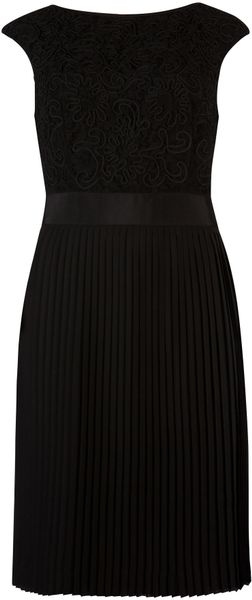 Ted Baker Aliana Lace Detail Button Back Dress In Black Lyst