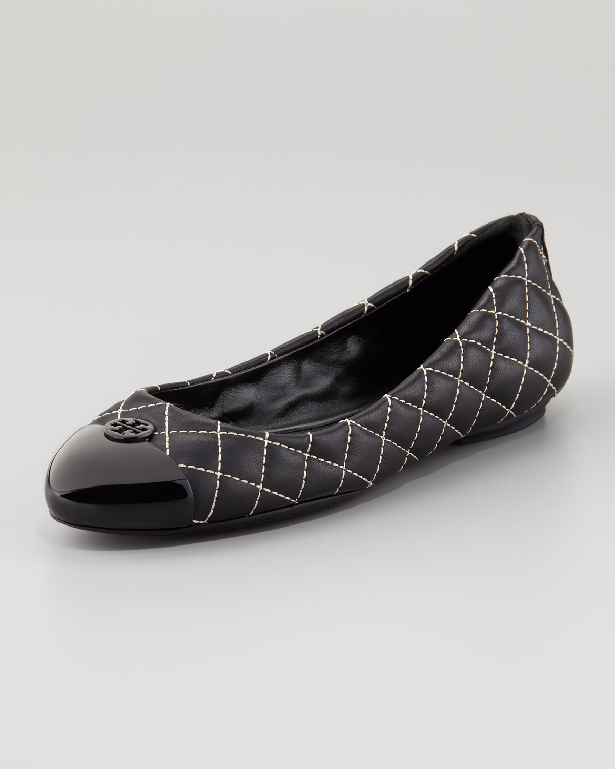 157d6b0b49e83 Lyst Tory Burch Kaitlin Quilted Ballet Flat In Black