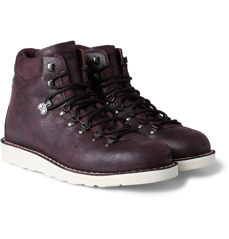 diemme roccia vet ontario waxedsuede boots in purple for