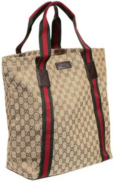 Gucci Original Gg Shopping Bag In Beige For Men Black Lyst