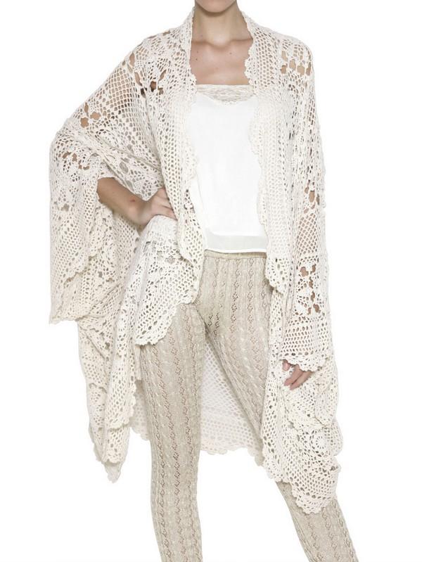 Favoloso Mes demoiselles Cotton Crochet Cardigan in Natural | Lyst EL66