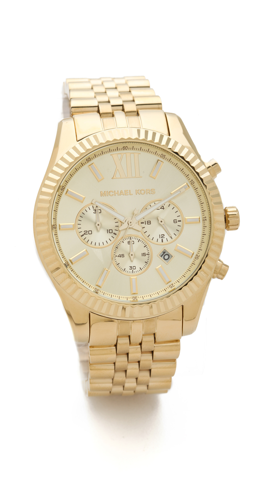 michael kors men s oversized lexington watch gold in metallic lyst gallery previously at shopbop · women s michael kors lexington women s gold watches