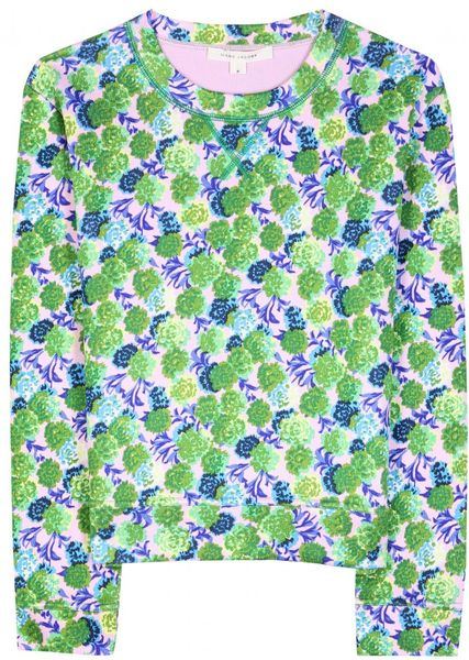Marc By Marc Jacobs Print Pullover in Green (rose)