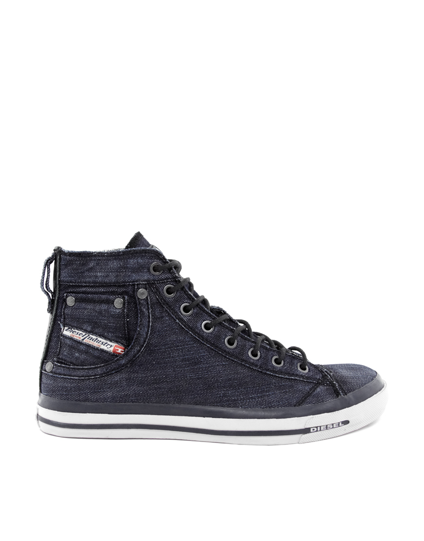 Chaussures De Sport Marine Faible Exposition Bleu / Diesel Bleu Foncé qY5JILXRa