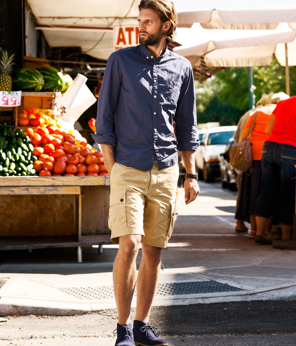 H&m Cargo Shorts in Natural for Men | Lyst