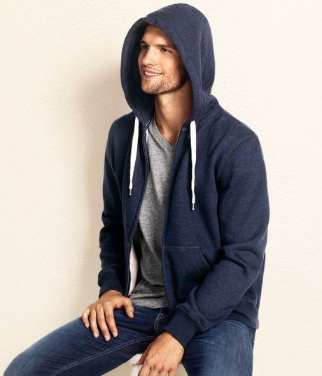 H&m Hooded Jacket in Blue