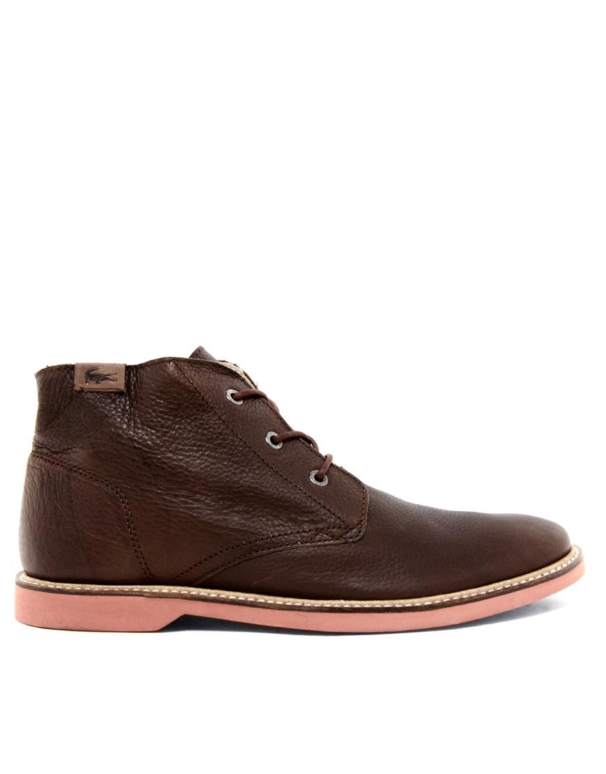 e8614d0faa3957 Lyst - Lacoste Sherbrooke Hi Desert Boots in Brown for Men