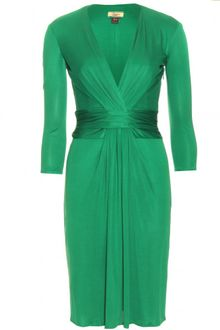 Issa Dress on Issa Long Sleeve Wrap Dress In Green  Forest    Lyst