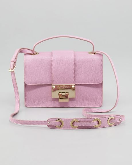 Jimmy Choo Rebel Leather Crossbody Bag Peony in Pink ...