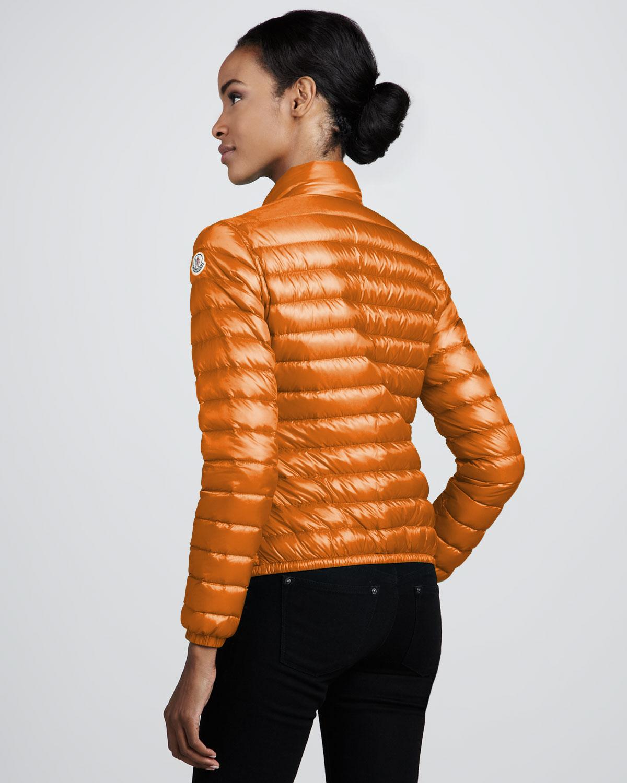 Moncler Short Lightweight Puffer Jacket Orange in Orange ...