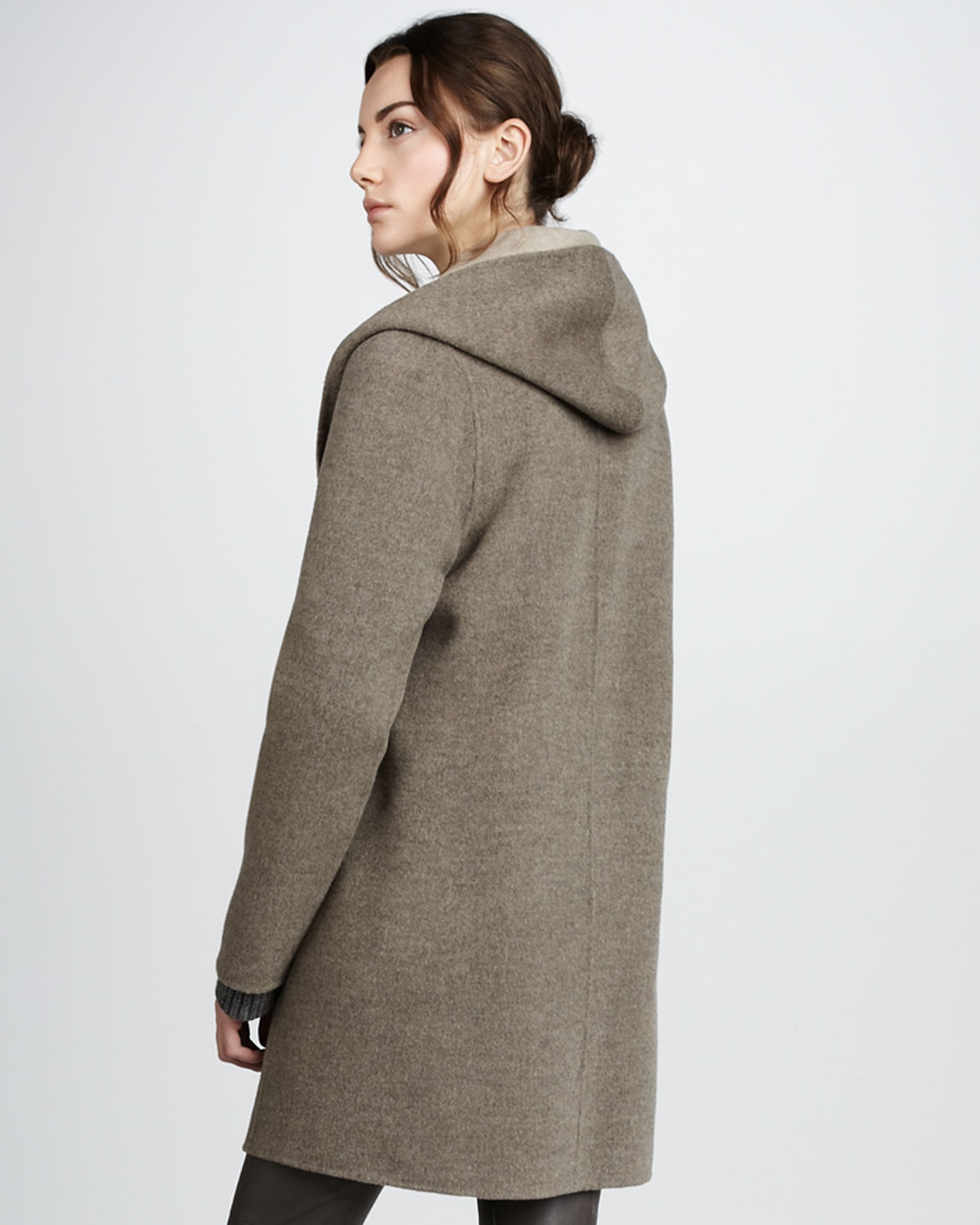 fall supply straight popsugar drape drapes vince coat talker fashion need trends hooded