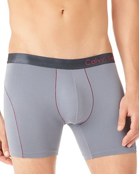 Calvin Klein Pro Stretch Reflex Boxer Briefs in Gray for Men (grey)