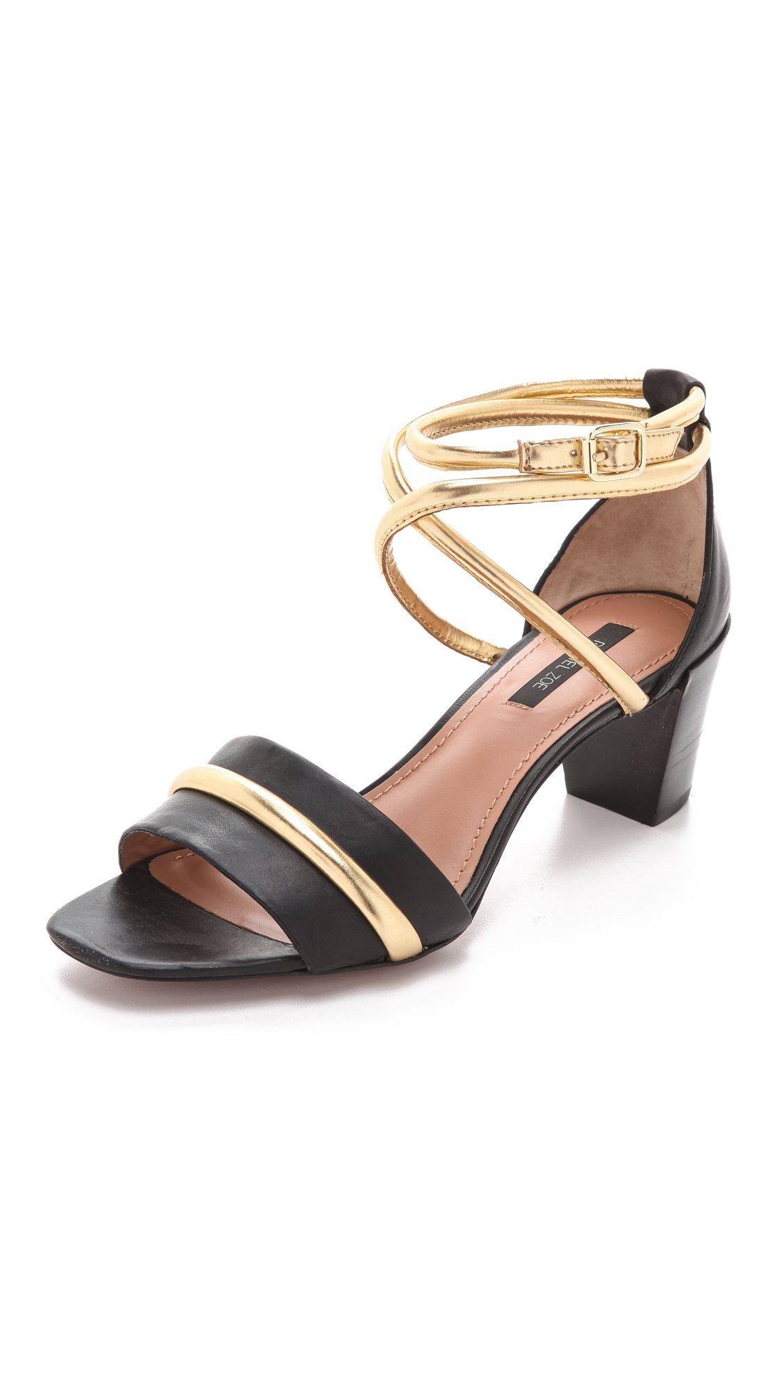 Original Nine West Yocelin Low Heel Dress Sandals In Black  Lyst