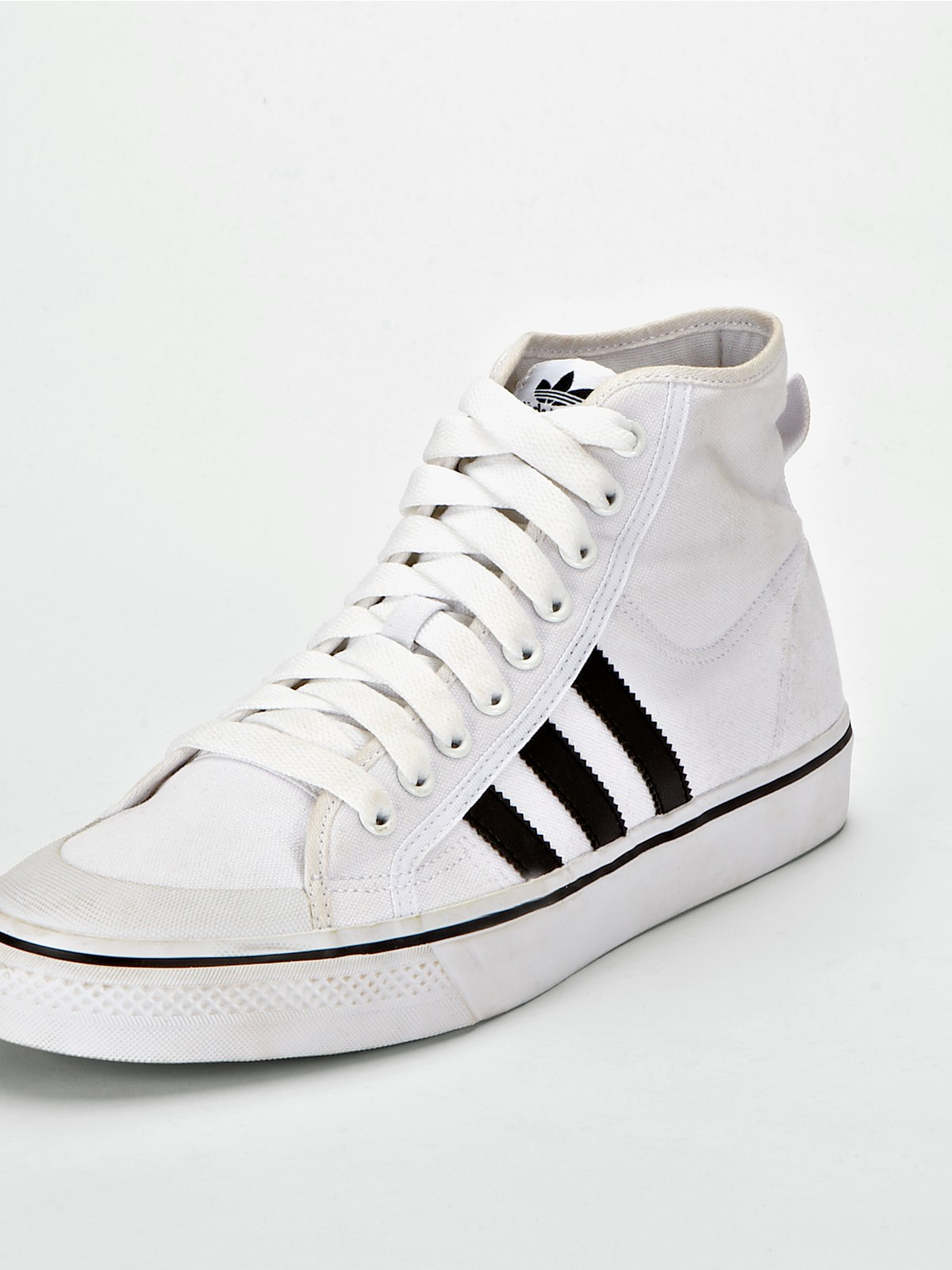 adidas adidas nizza hi basketball mens shoes in white for
