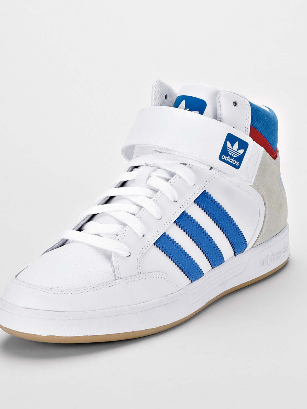 adidas adidas varial mens mid trainers in white for men. Black Bedroom Furniture Sets. Home Design Ideas