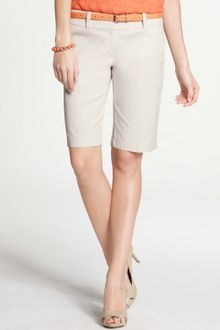 Ann Taylor Petite Cotton Walking Shorts - Lyst
