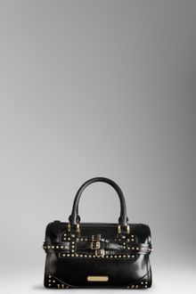 Burberry Medium Studded Bridle Leather Bowling Bag - Lyst