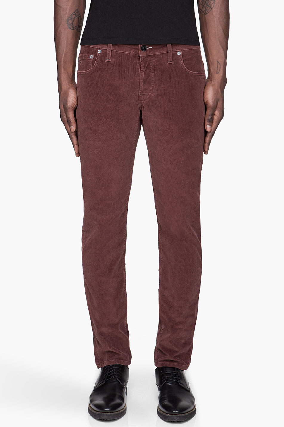 G Star Raw Tapered Corduroy Jeans In Purple For Men Plum