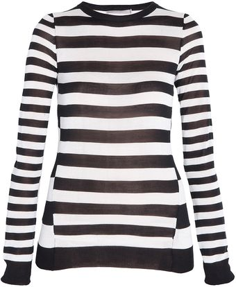 Jason Wu Silk Knit Stripe Sweater - Lyst