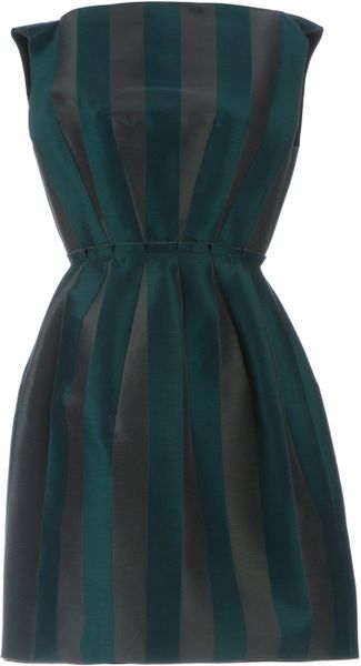 Lanvin Stripe Dress in Green (peacock) - Lyst