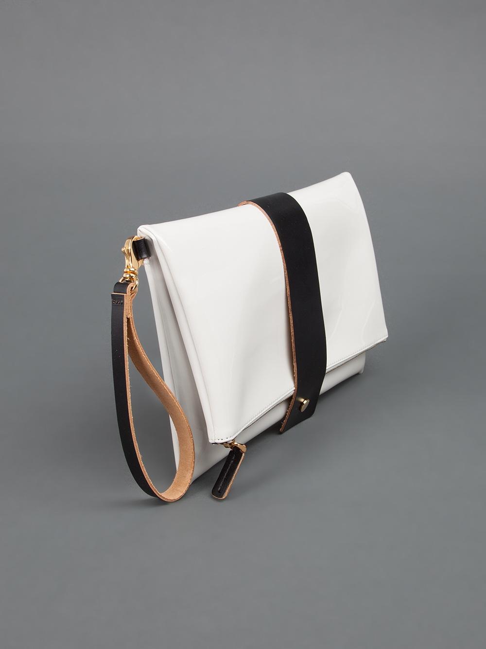 Black Clutch Bag with Wrist Strap