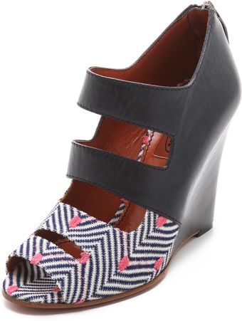 Missoni Peep Toe Wedges - Lyst