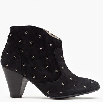 Nasty Gal Studded Ankle Boot - Lyst