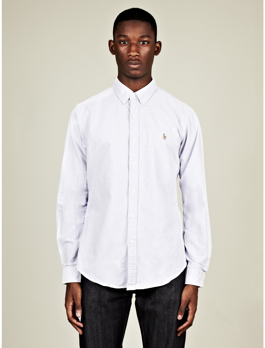6fbd8469bd17 Polo Ralph Lauren Mens Slim Fit Button Down Oxford Shirt in Blue for Men  (purple