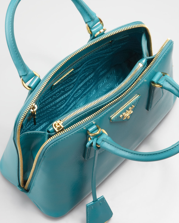 2e47b8d7894f Lyst - Prada Saffiano Micro Promenade Bag in Blue