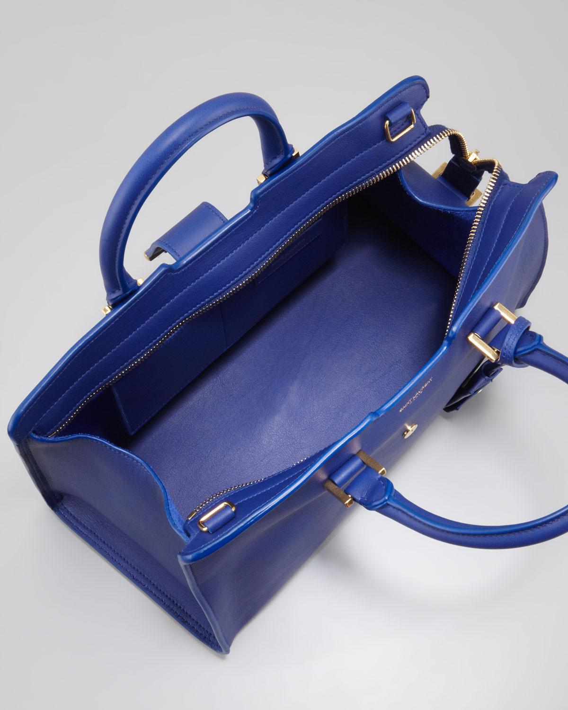 cf1c2e8540 Lyst - Saint Laurent Cabas Chyc Cuir Gras Mini Bag in Blue
