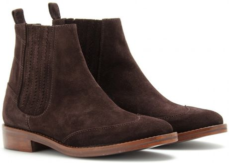 opening ceremony coachella flat suede chelsea boots in