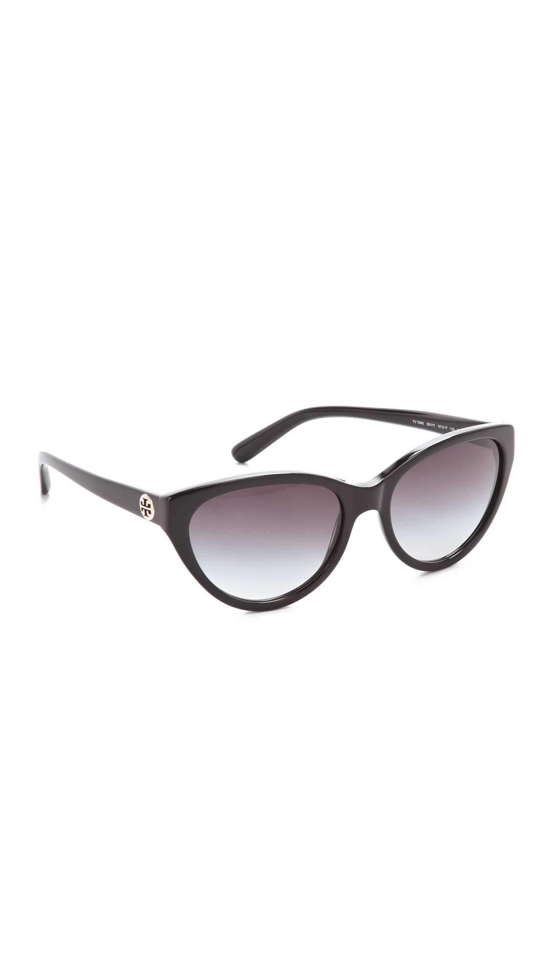 d1b424577 Tory Burch Cat Eye Sunglasses in Black - Lyst
