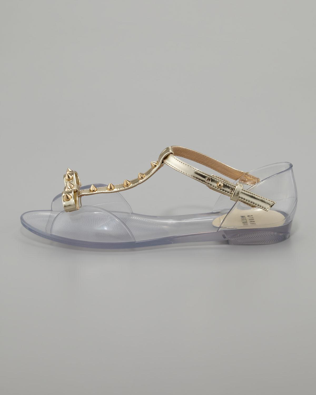 507dfc5e8ab4 Lyst - Stuart Weitzman Nifty Jelly Flat Sandal