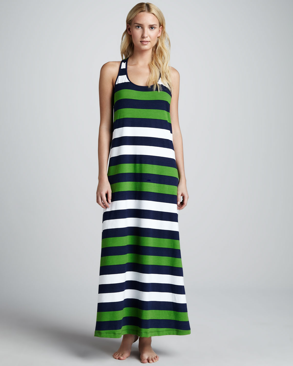 Tommy bahama Rugby Striped Maxi Dress in Green - Lyst