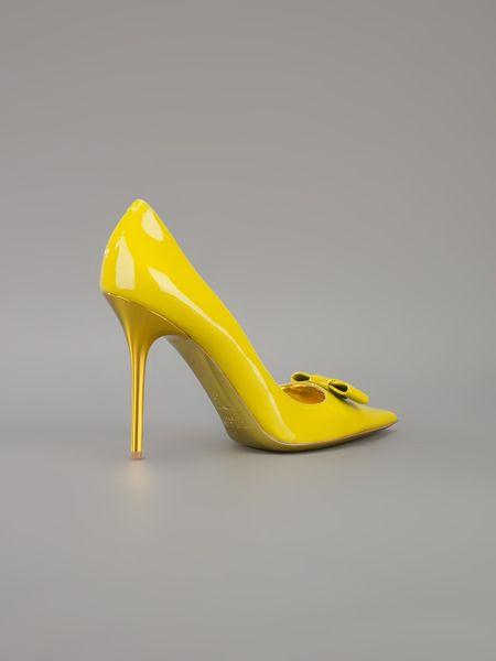 Jimmy Choo Marcie Bow Pump In Yellow Citrus Lyst