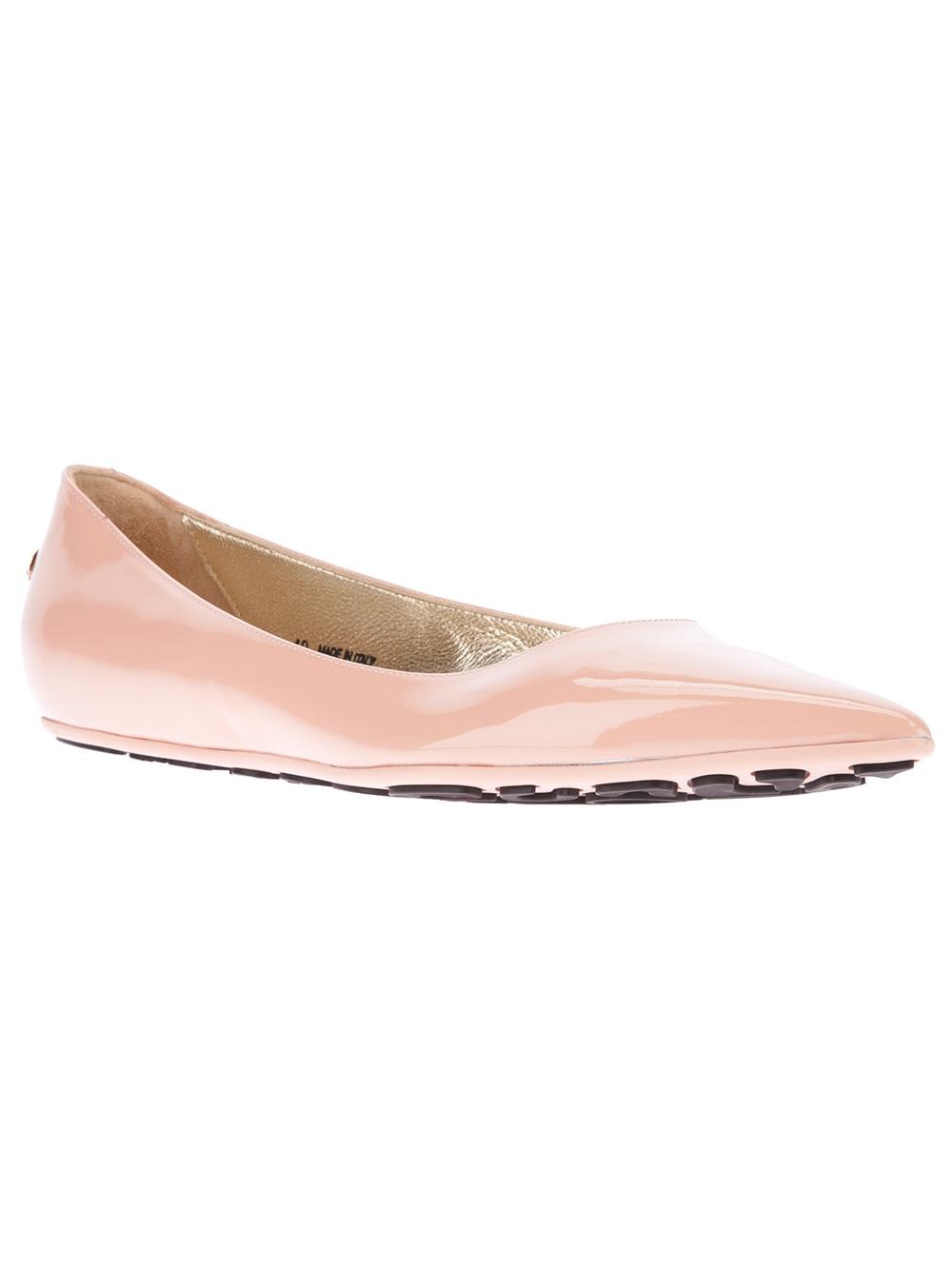 lyst jimmy choo glenda ballet flat in pink. Black Bedroom Furniture Sets. Home Design Ideas