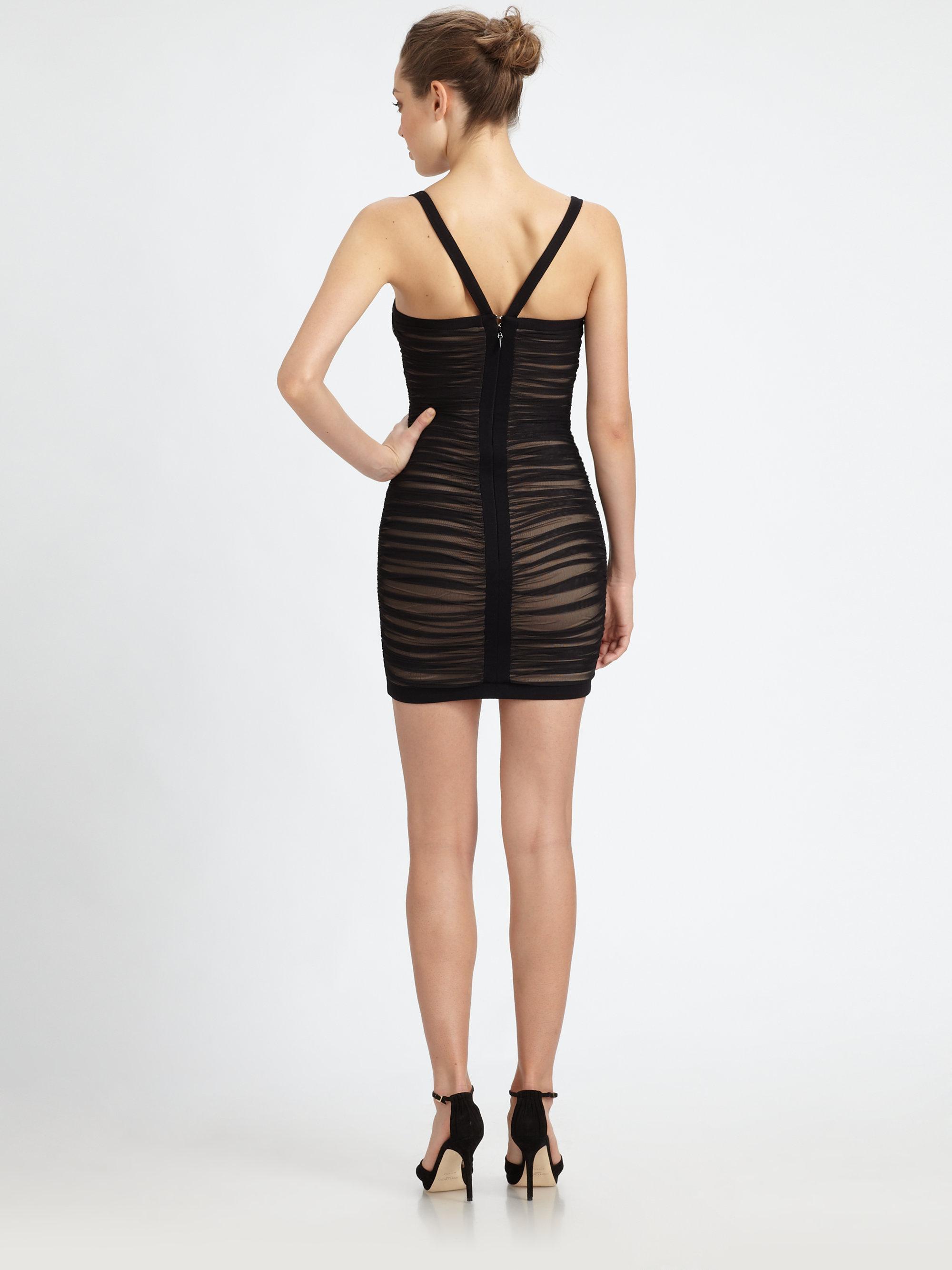 Keylene ruched cocktail dress