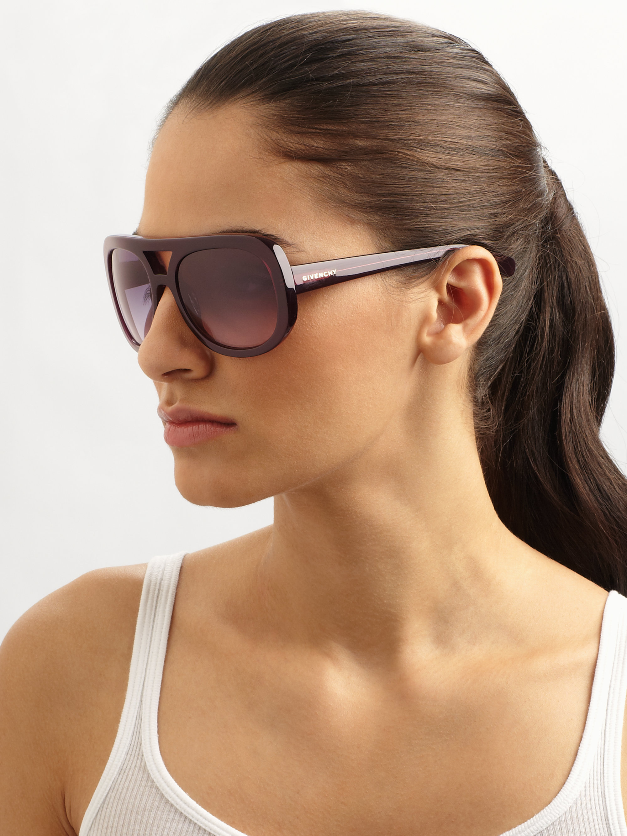 Aviator Oversized Sunglasses  givenchy plastic aviator sunglasses in purple lyst