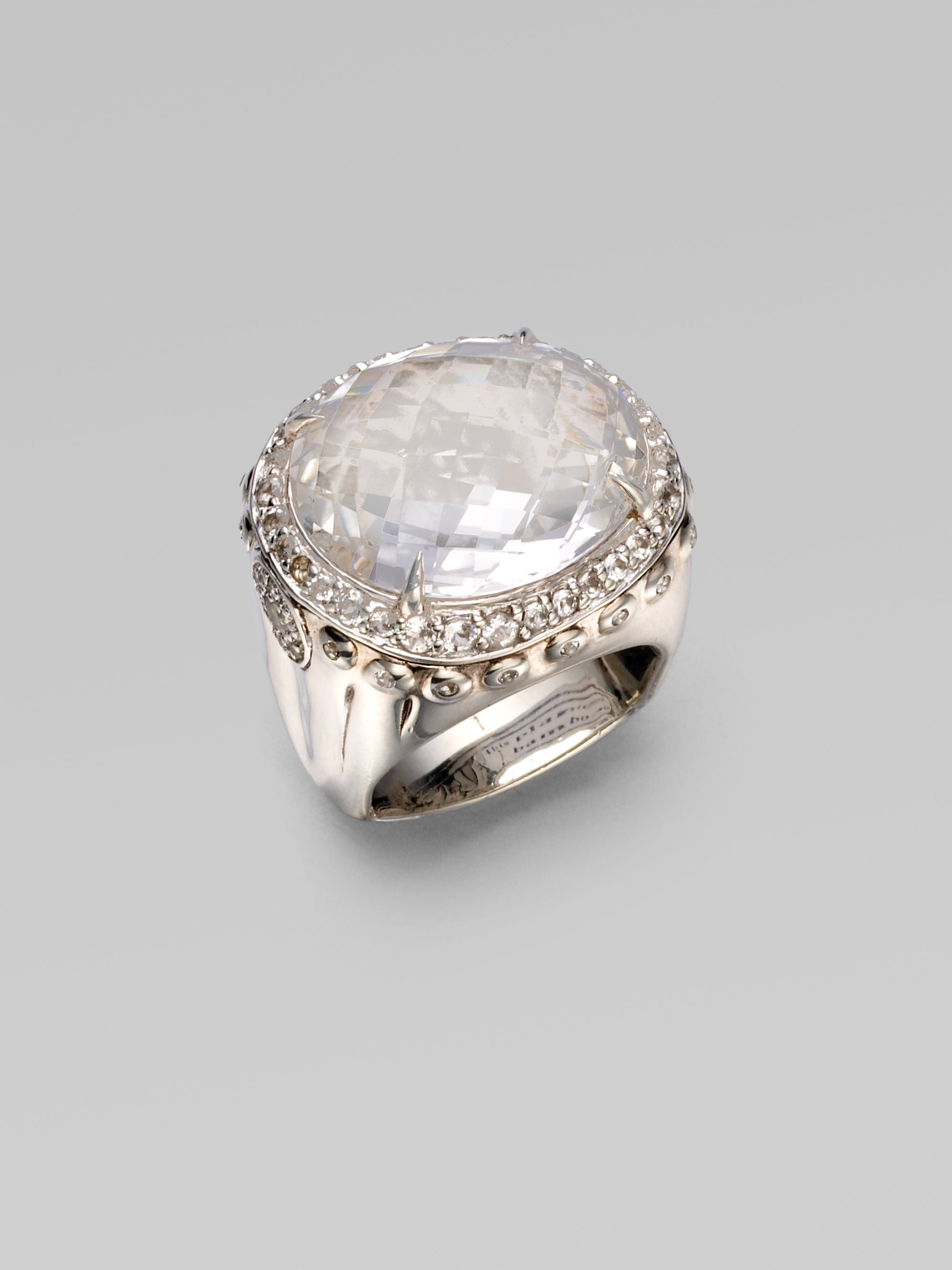John Hardy Bamboo White Topaz Amp Sterling Silver Dome Ring