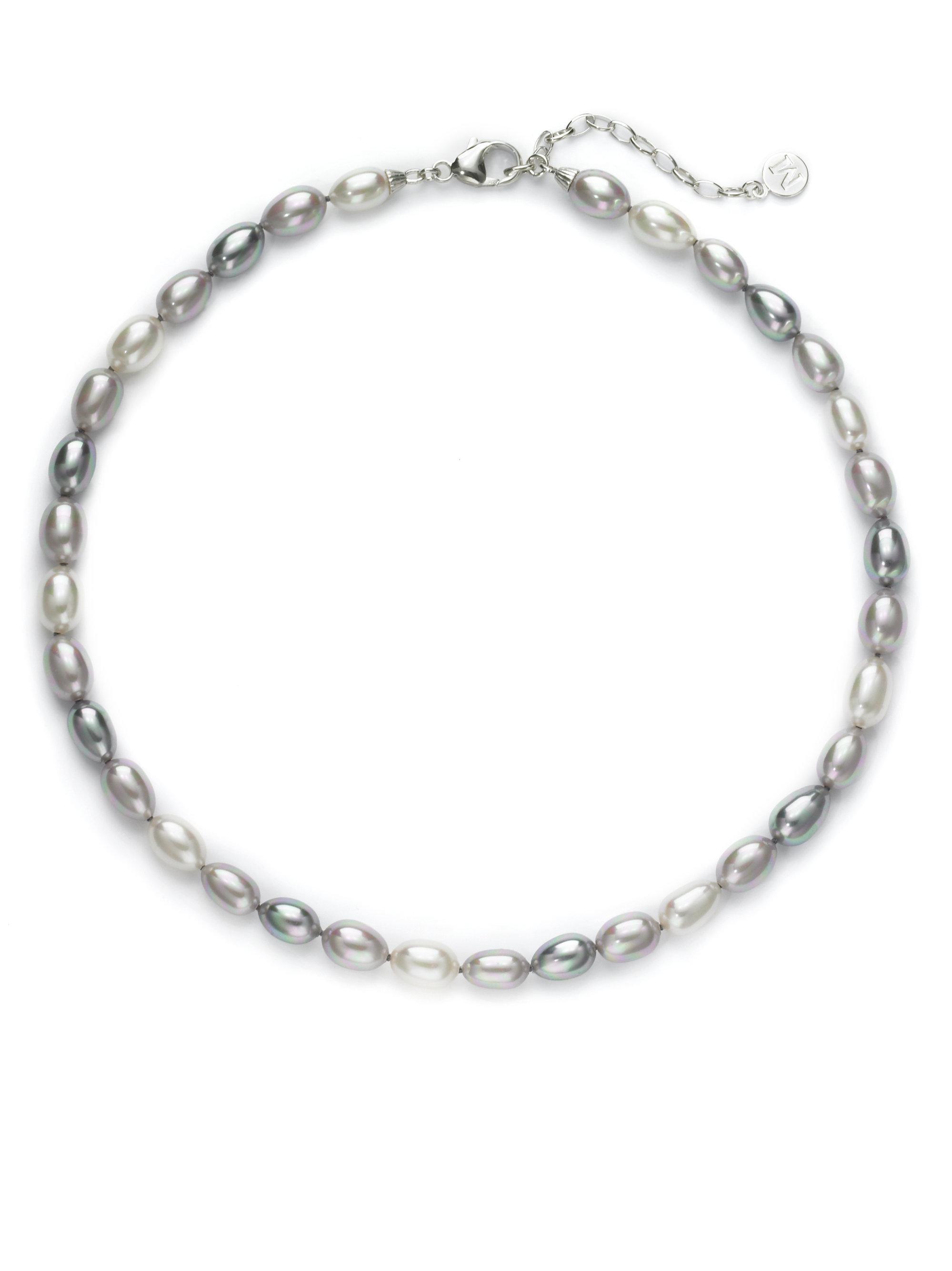 Majorica White, Gray & Nuage Pearl Necklace, 35