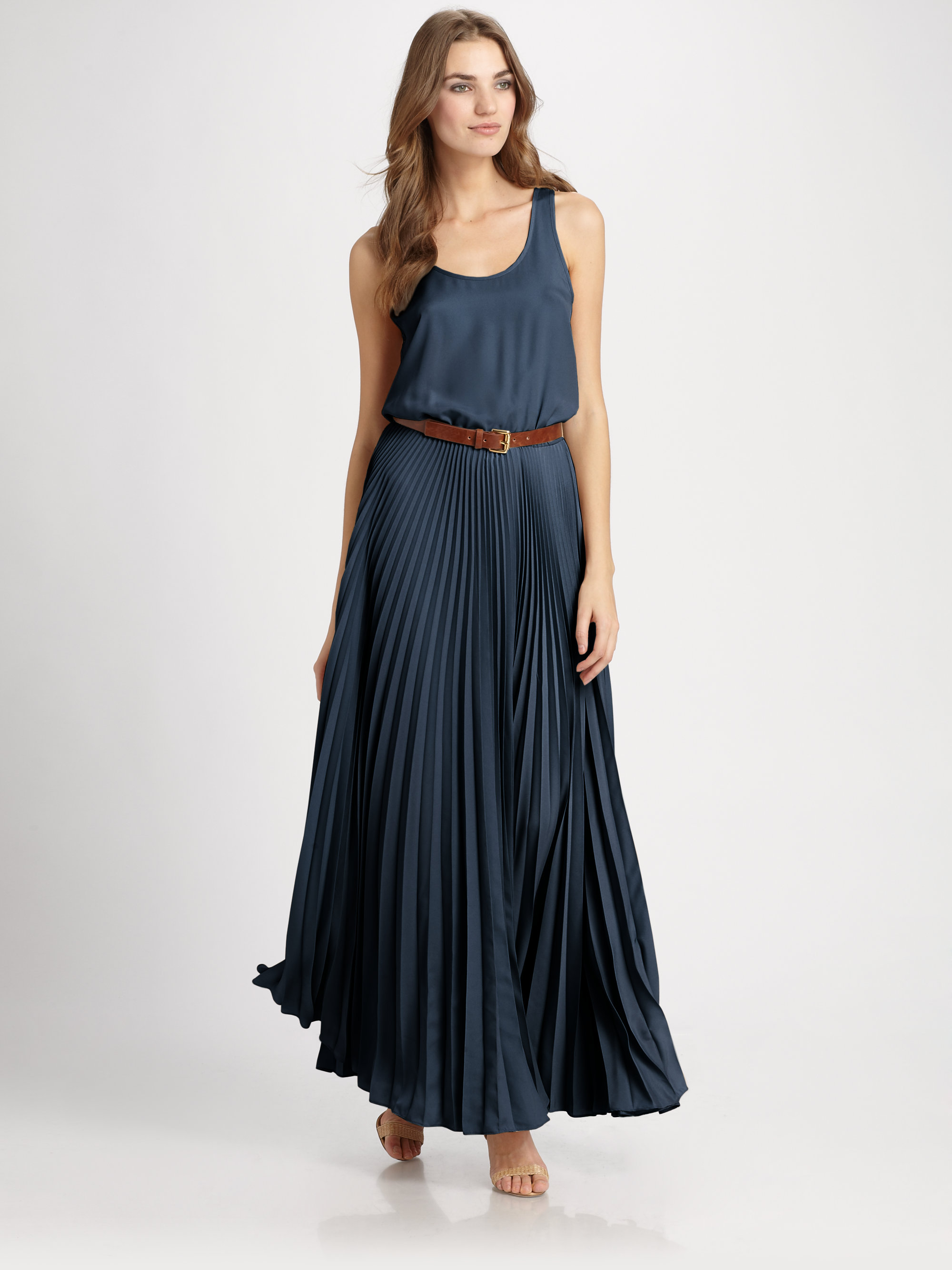 Lyst - Michael Michael Kors Racerback Maxi Dress in Blue