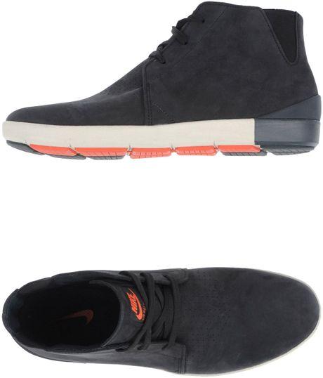 nike hightop dress shoe in black for steel lyst