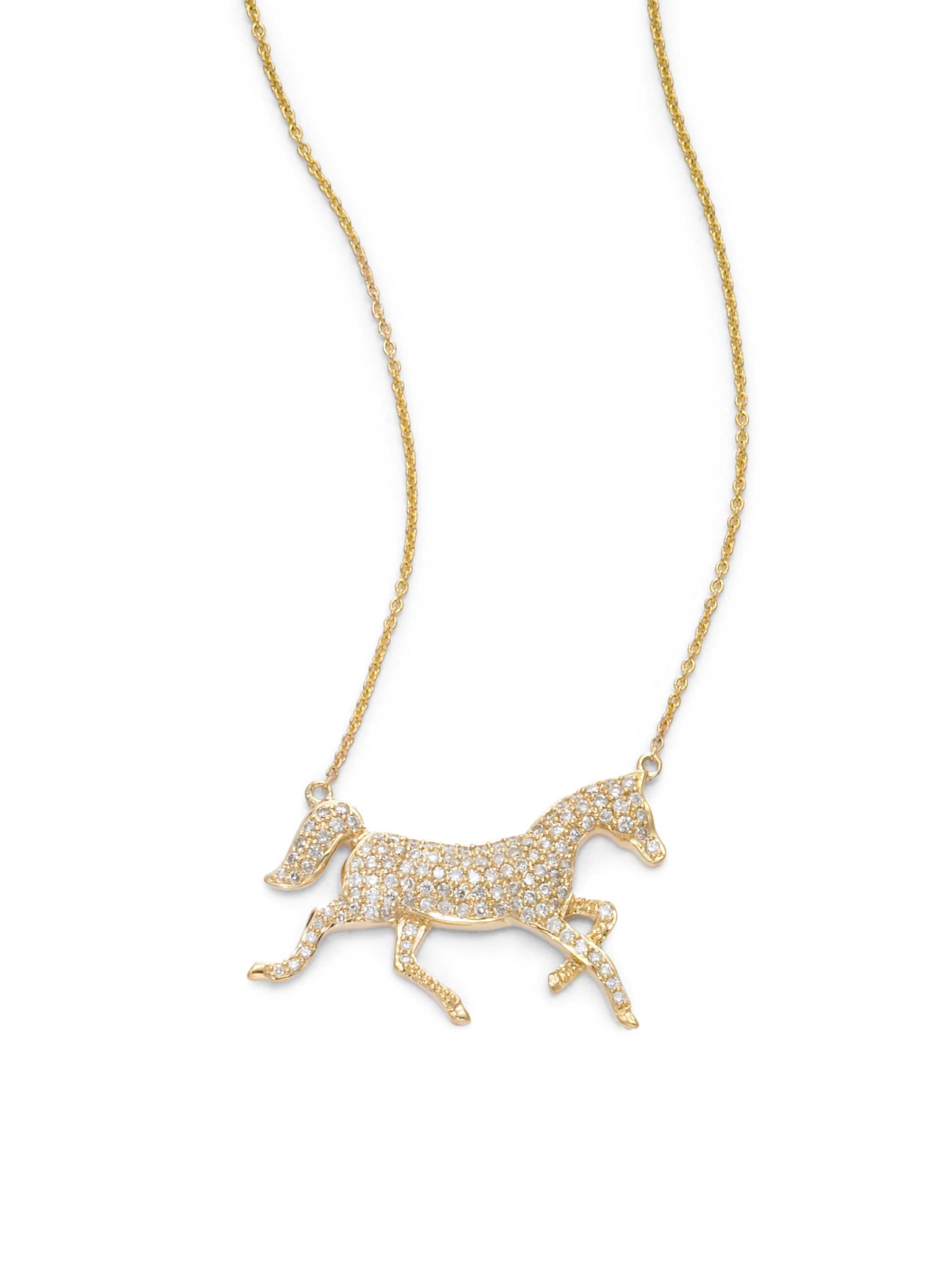 horse products pendant swedish vintage dala gold necklace charm russian