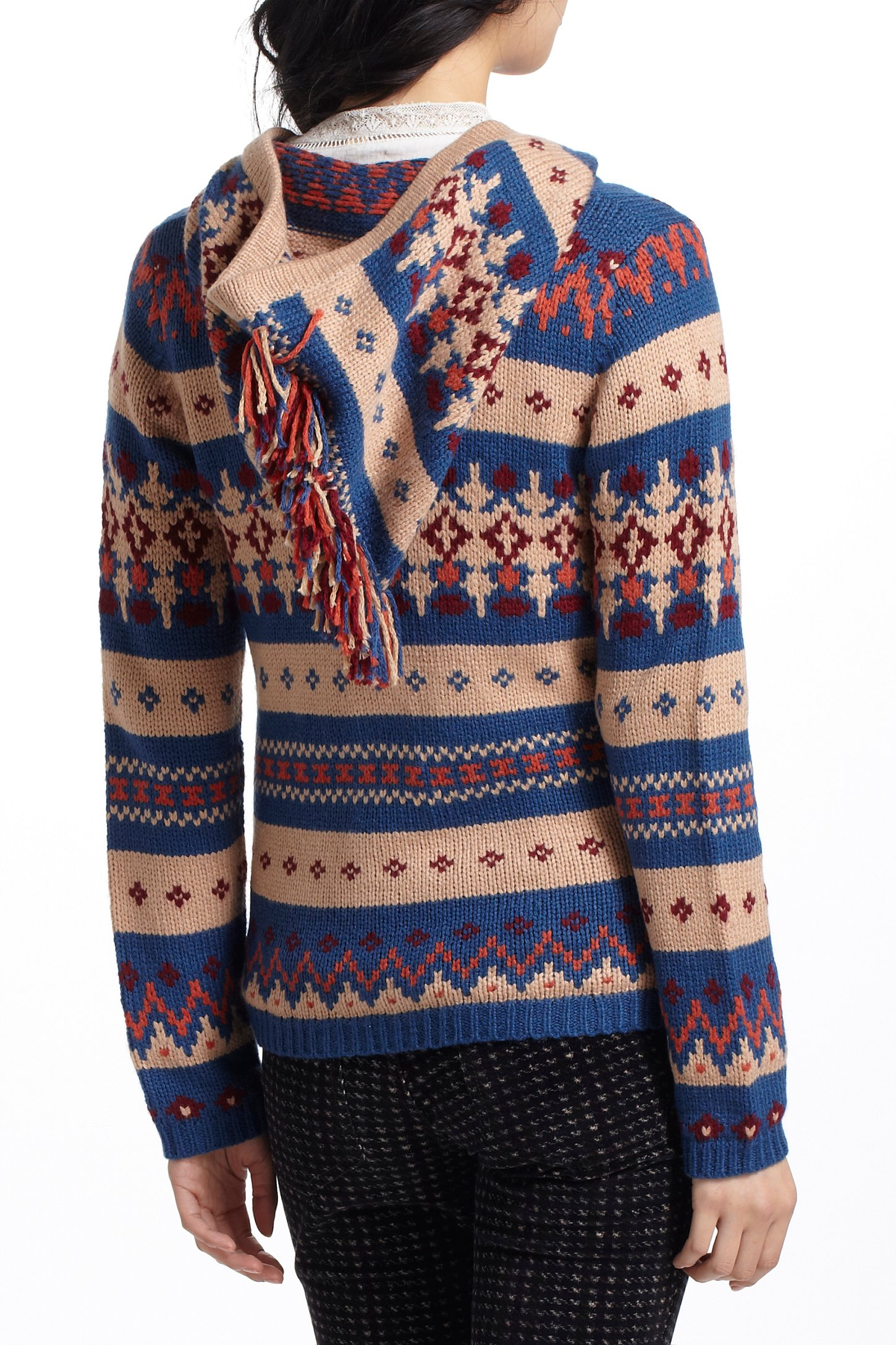 Anthropologie Fairisle Hooded Sweater | Lyst