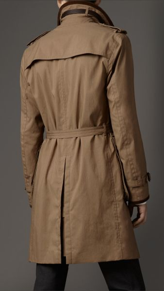 Burberry Waxed Cotton Canvas Car Coat In Beige For Men