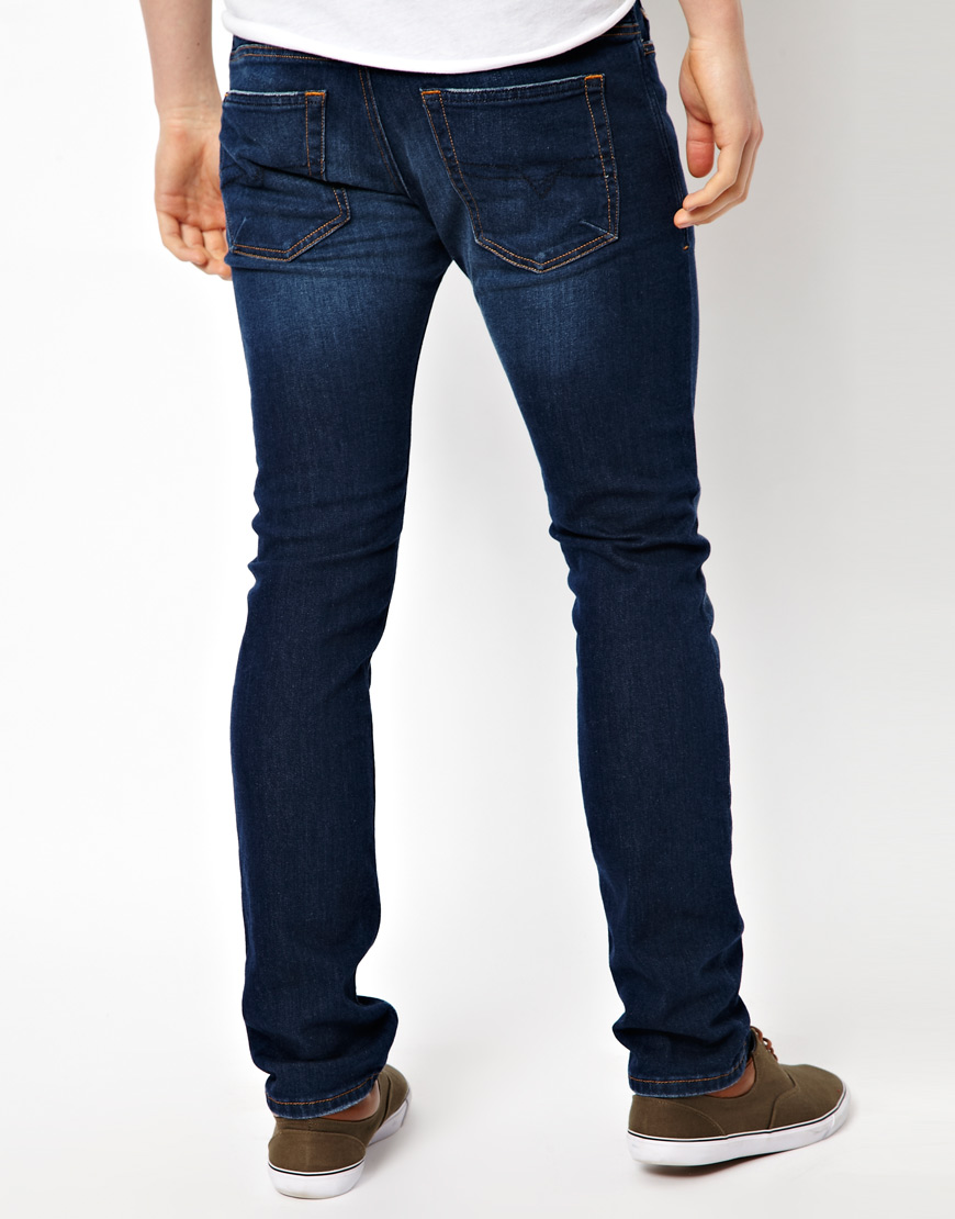 3a57e86a DIESEL Jeans Shioner Skinny Fit Dark Wash in Blue for Men - Lyst