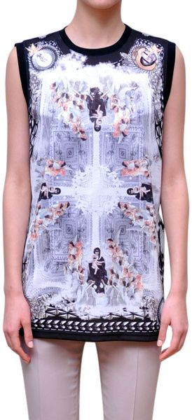 Givenchy Printed Cotton Top - Lyst