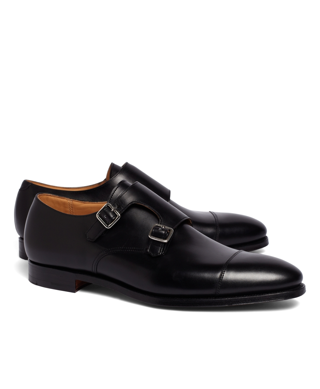 Brown Double Monk Strap Shoes India