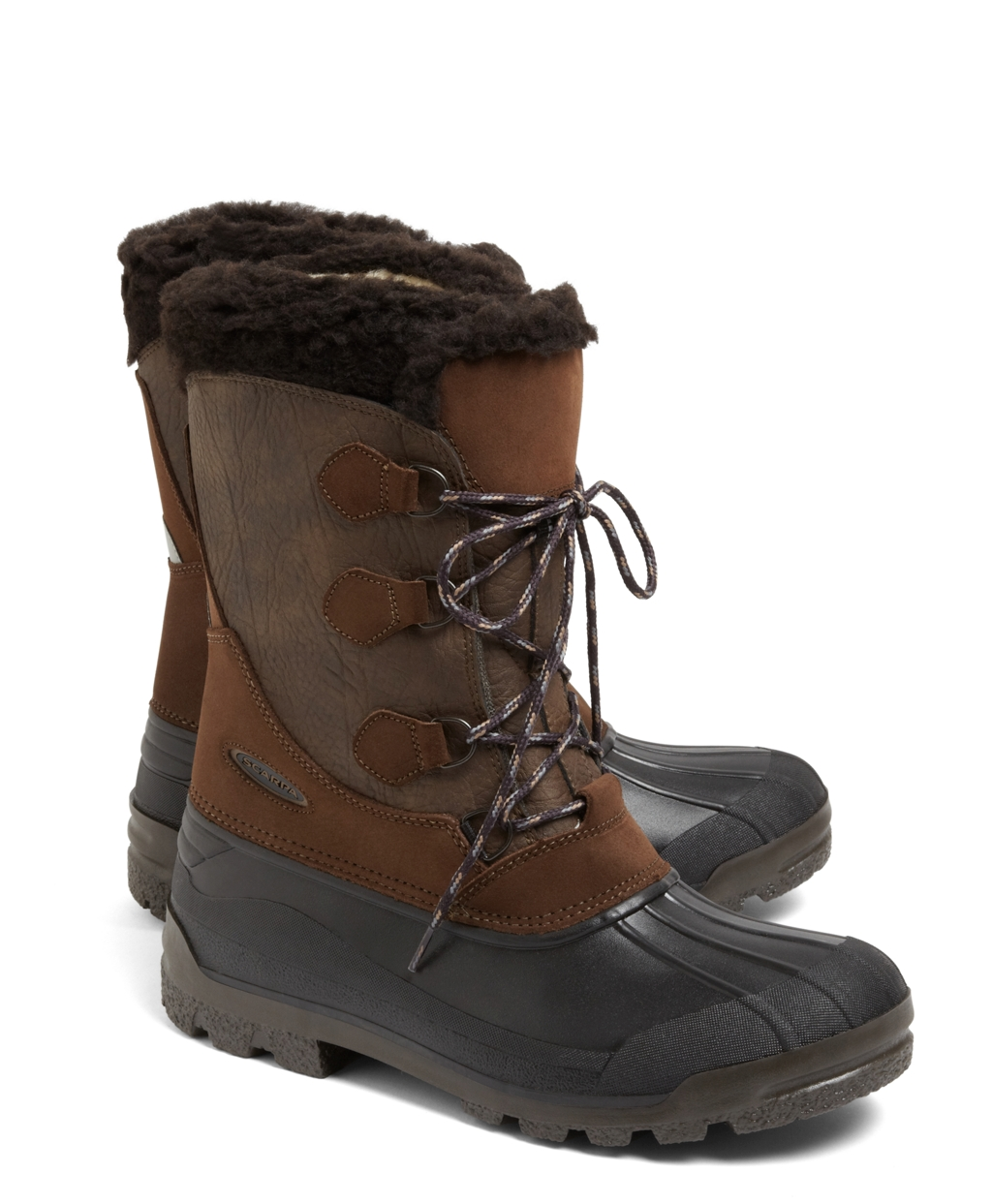 brothers lapponia duck boots in brown for lyst