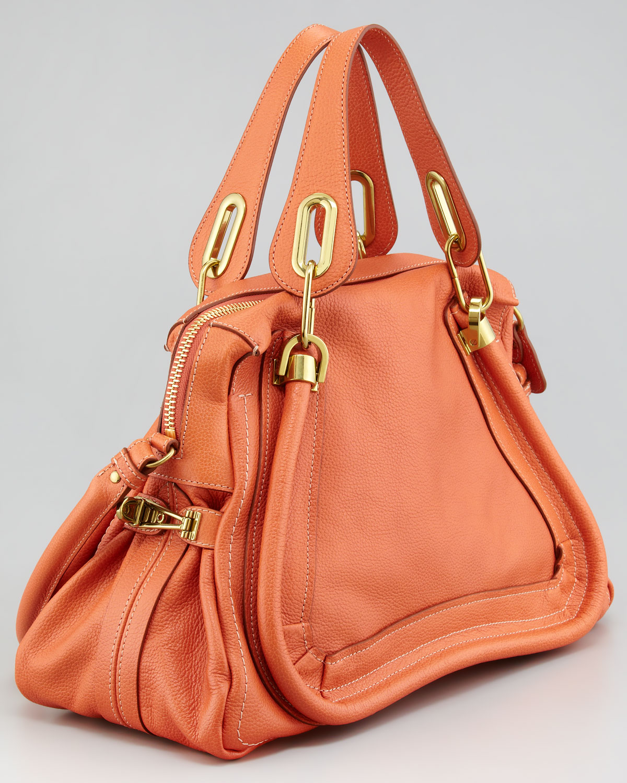 Chlo¨¦ Paraty Medium Shoulder Bag Suntan in Orange (SUNTAN) | Lyst